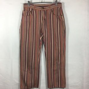 Lee Cropped Striped Jeans